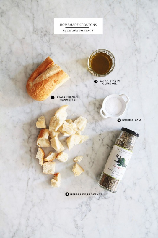 Homemade Croutons by Le Zoe Musingsjpg