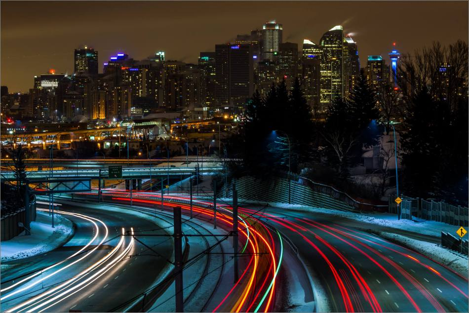 A view of Calgary's downtown at night - © Christopher Martin-0686