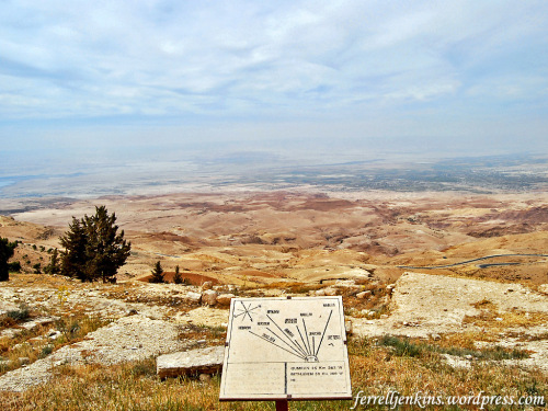 View from Mount Nebo NW across the Jordan Valley. Photo by Ferrell Jenkins.