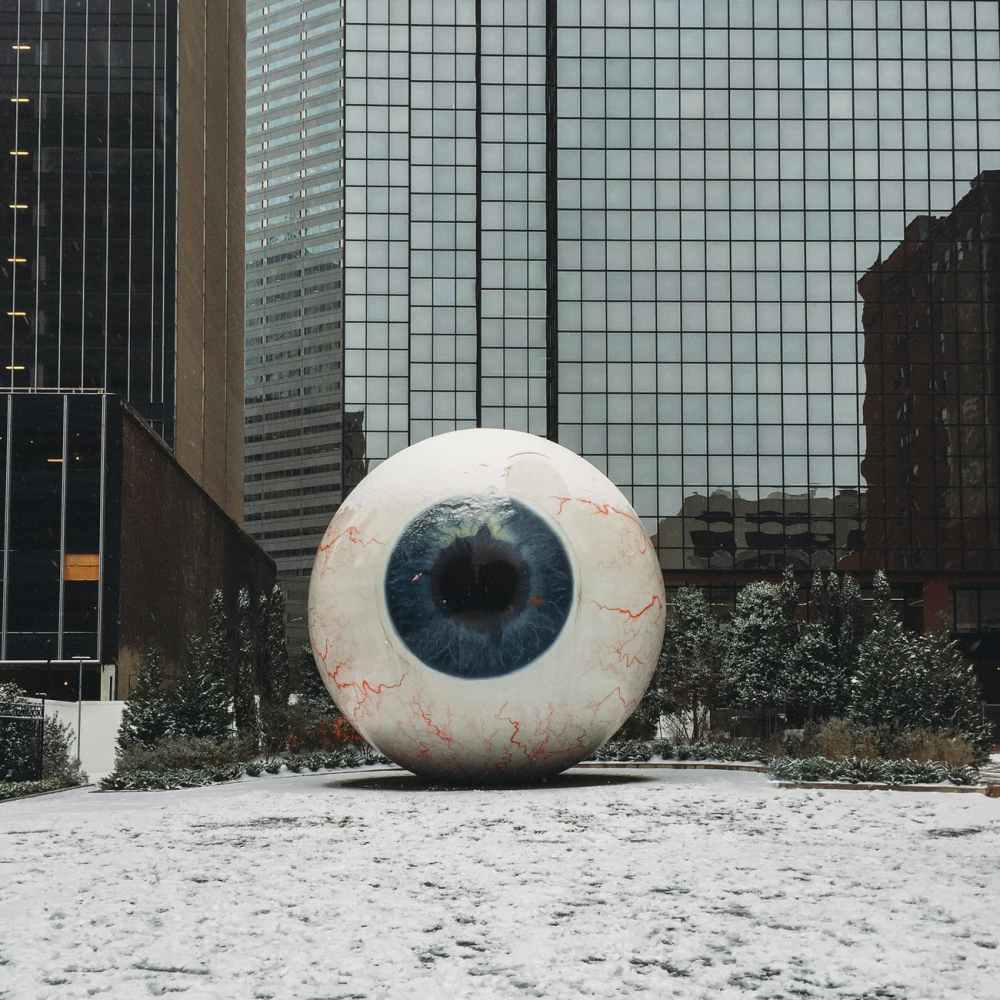 eye ball sculpture